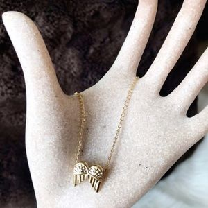 "Jewelry - Dogeared ""Guardian Angel"" Gold Necklace"